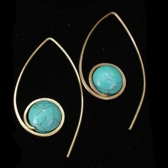 Boho Ethnic Stone Drop Earrings - $7 PROMO FREE SHIPPING TODAY ONLY