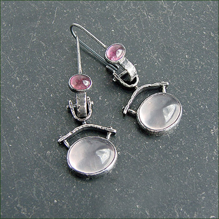 Clear White Moonstone Earrings - $7 PROMO FREE SHIPPING TODAY ONLY
