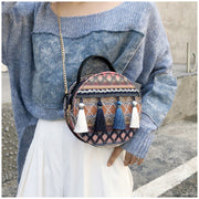 Tassel Mini Circular Shoulder Bag - $29 PROMO FREE SHIPPING TODAY ONLY