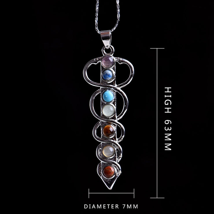 7 Chakra Stone Pendant - $9 PROMO FREE SHIPPING TODAY ONLY