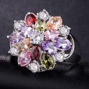 Colorful CZ Crystal Party Ring - $9 PROMO FREE SHIPPING TODAY ONLY
