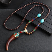 Ethnic Horn Fish Mala Necklace