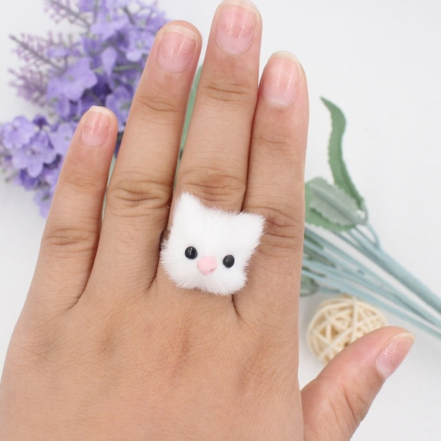 Fluffy Fur Animal Rings
