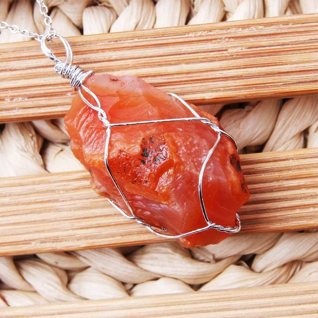 Raw Stone Pendants - $9 PROMO FREE SHIPPING TODAY ONLY