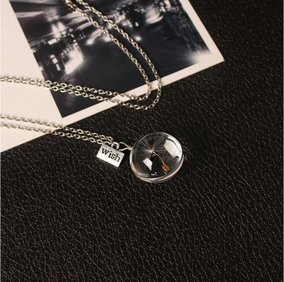 Dandelion Glass Necklace - $9 PROMO FREE SHIPPING TODAY ONLY