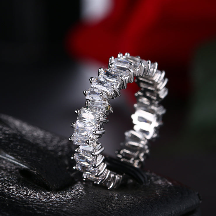 Cubic Zirconia Band Style Ring