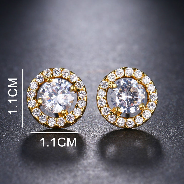 Cubic Zirconia 4 Prong Setting Earrings