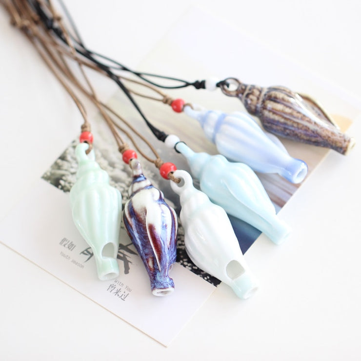 Ceramic Whistle Necklace