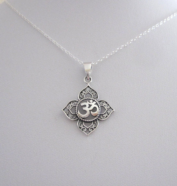 OM Lotus Pendant - $9 PROMO FREE SHIPPING TODAY ONLY