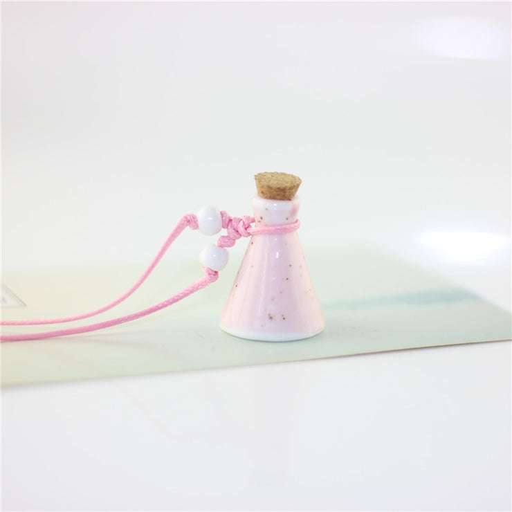 Mini Ceramic Essential Oil Bottle Necklace