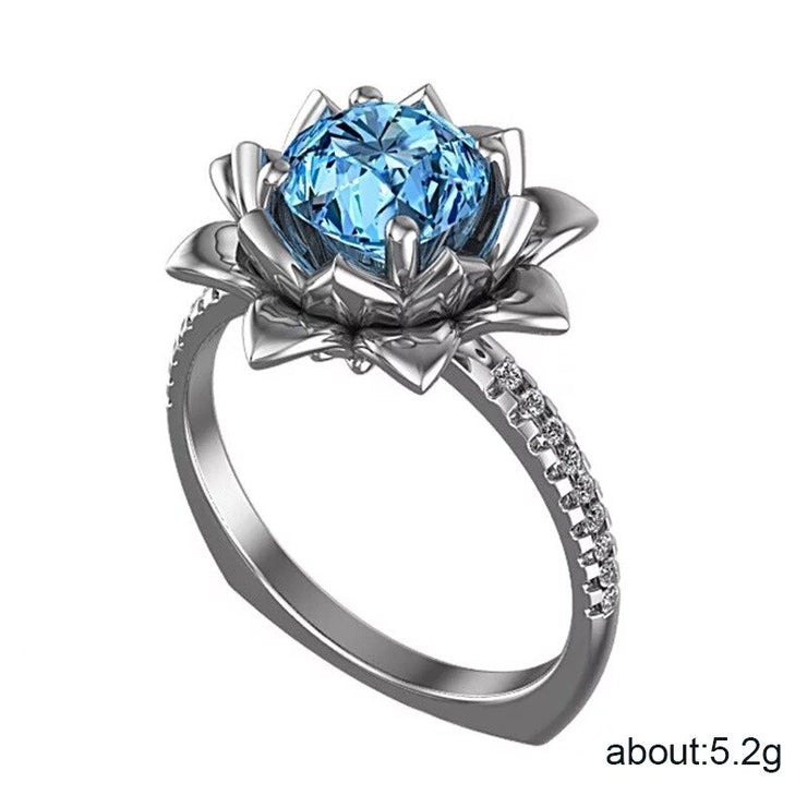 Lotus Flower CZ Ring - $7 PROMO FREE SHIPPING TODAY ONLY