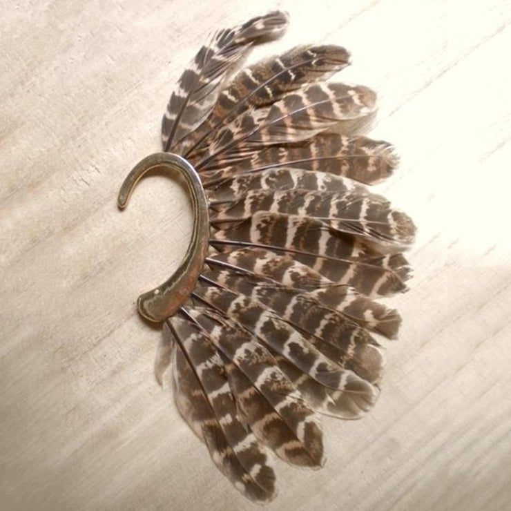 Boho Festival Feather Ear Cuff - $9 PROMO FREE SHIPPING TODAY ONLY