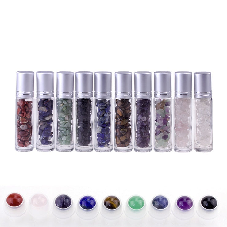 Essential Oil Crystal Infused Roller Bottles - Choose Your Crystal