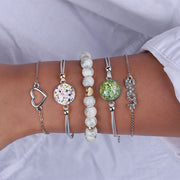 Bead and Charm Bracelet Set