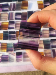 Natural Rainbow Fluorite Crystal Slice