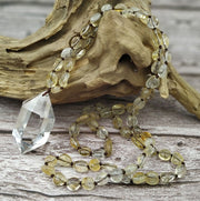 Crystal Quartz & Tumbled Gemstone Necklace