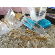 Quartz Crystal Gold Capped Pendant