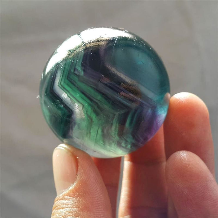 Rainbow Fluorite Crystal Ball