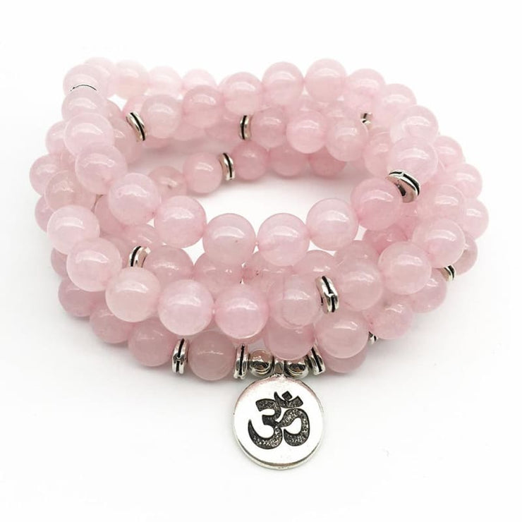 Rose Quartz Mala Bead Bracelet