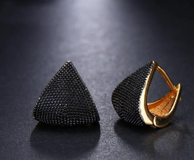 Two Tone Geometric Shaped Earrings