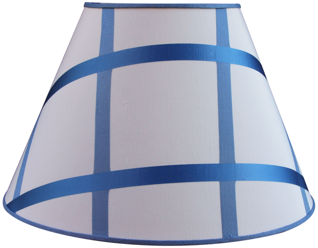 "Custom Blue Ribbon - Empire - 19"" - Lux Lampshades"