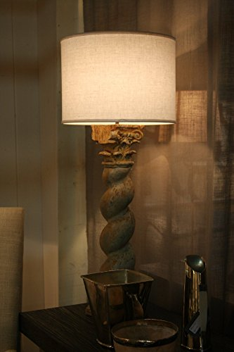 Drum Hard-back White Linen Lamp shade (18