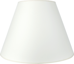"Paper Shade (Shell Color) - Empire - 9""top x 18"" bottom x 11"" slant"