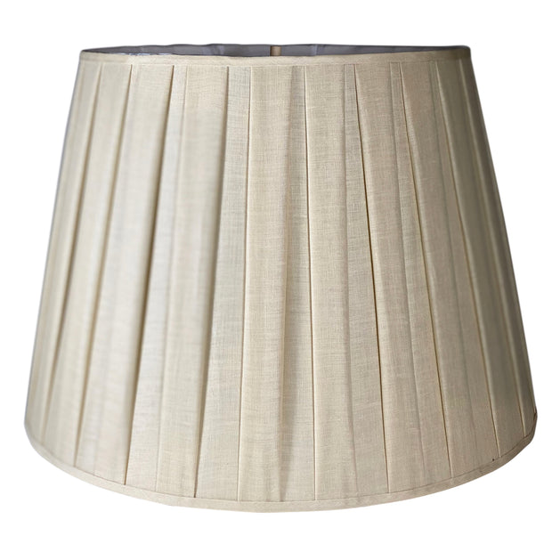 Almond Linen Box Pleat Drum