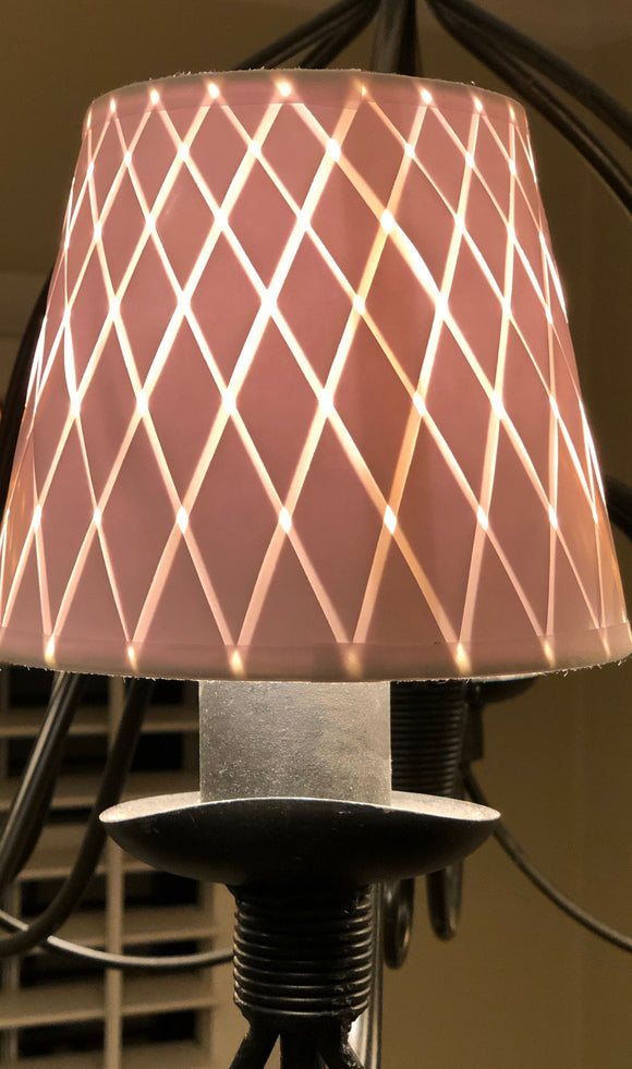 Woven Paper Chandelier Lamp Shade - Available in two sizes