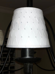 White Woven Paper Chandelier Lamp Shade - Available in two sizes