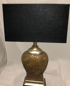 "Black Linen Rectangle - Rolled Edge; brass spider (8"" x 17"" top & bottom x 10"" height)"