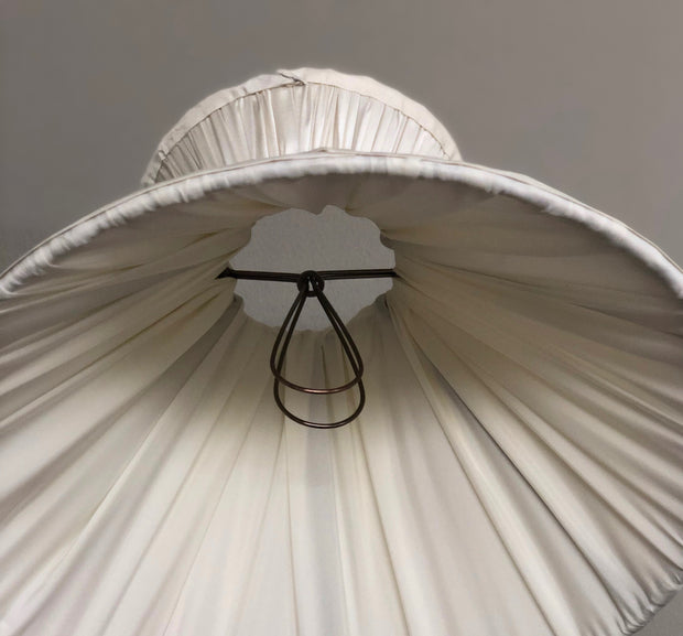 Gathered Silk Corset Lamp Shade - CANDLE CLIP