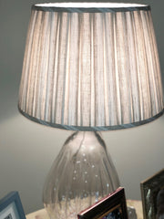 Pleated  Schumacher: Hillsborough Linen Stripe Shade