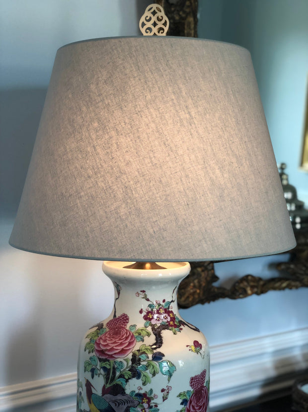 Linen Hardback Pembroke Lamp Shade - Lambs Ear Color
