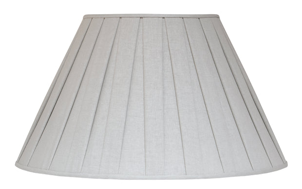 Box Pleat Linen - Lambs Ear linen limited buy - Lux Lampshades
