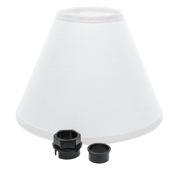5 x 12 x 9 shade + Patented universal fitting for euro lamps
