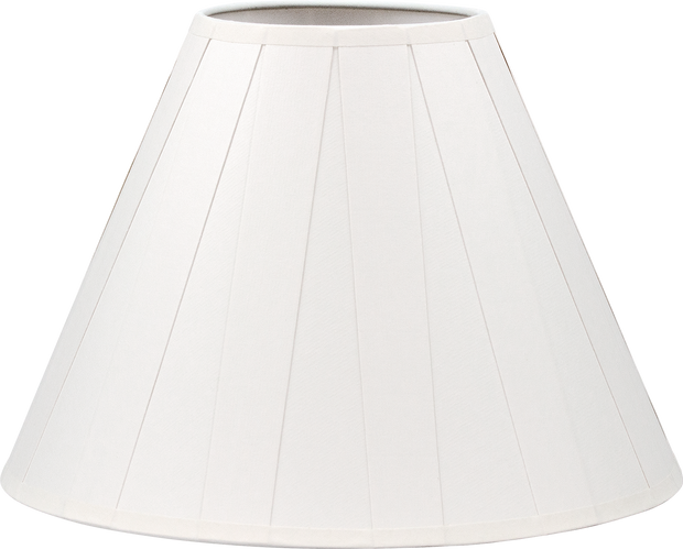 5 X 12 X 9 PAPER PLEATED SHADE + PATENTED UNIVERSAL FITTING FOR EURO LAMPS