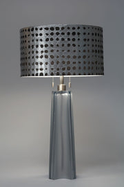 "18"" Drum Oracle Pewter Lampshade 18"" top x 18"" bottom x 10.25"" slant"