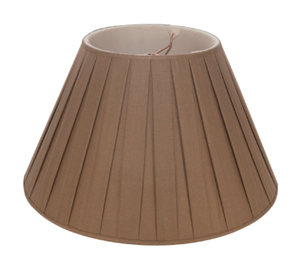 Mocha Box Pleat Linen - Empire - 14""
