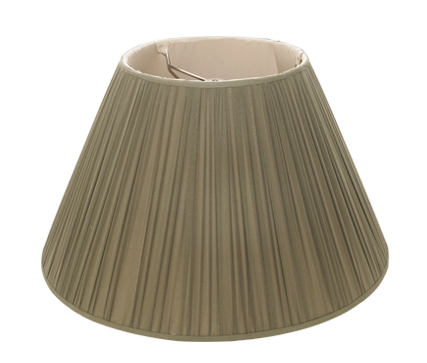 "Spinach Sheer Silk - Empire - 18"" - Lux Lampshades"