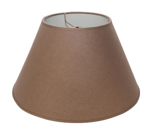 "Mocha Plain Linen - Empire - 14"" - Lux Lampshades"