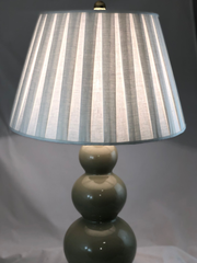 Box Pleat Linen Pembroke Lamp Shades Curated - Available in five sizes