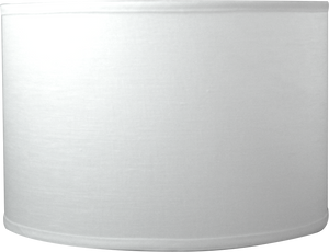 "Snow Plain Linen - Barrel - 16.5"" - Lux Lampshades"