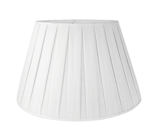 "Snow Box Pleat Linen Wholesale Bulk Pack (6 shade set) - Pembroke - 16"" - Lux Lampshades"
