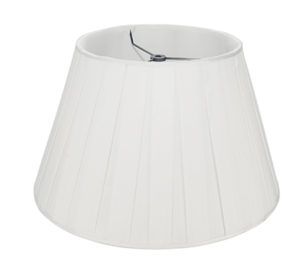 "Snow Box Pleat Silk - Pembroke - 18"" - Lux Lampshades"