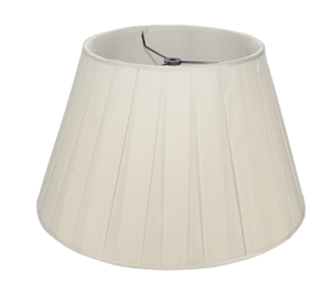 "Sugar Box Pleat Silk - Pembroke - 12"" - Lux Lampshades"