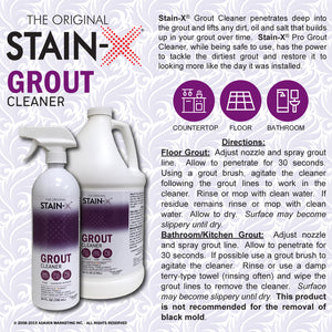 Stain-X Grout Cleaner Directions