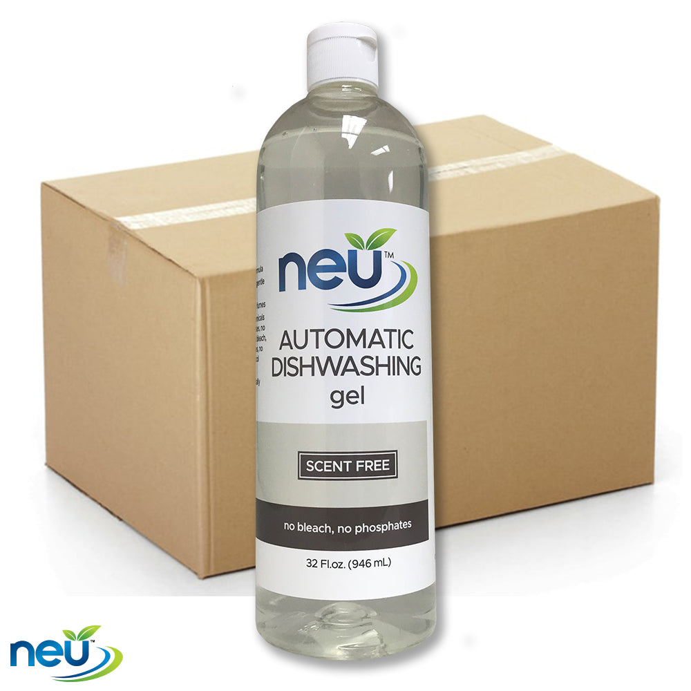 NEU Automatic Dishwasher Gel - Scent Free 32 oz 12 pk