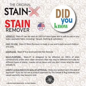 Stain-X Stain Remover Did You Know