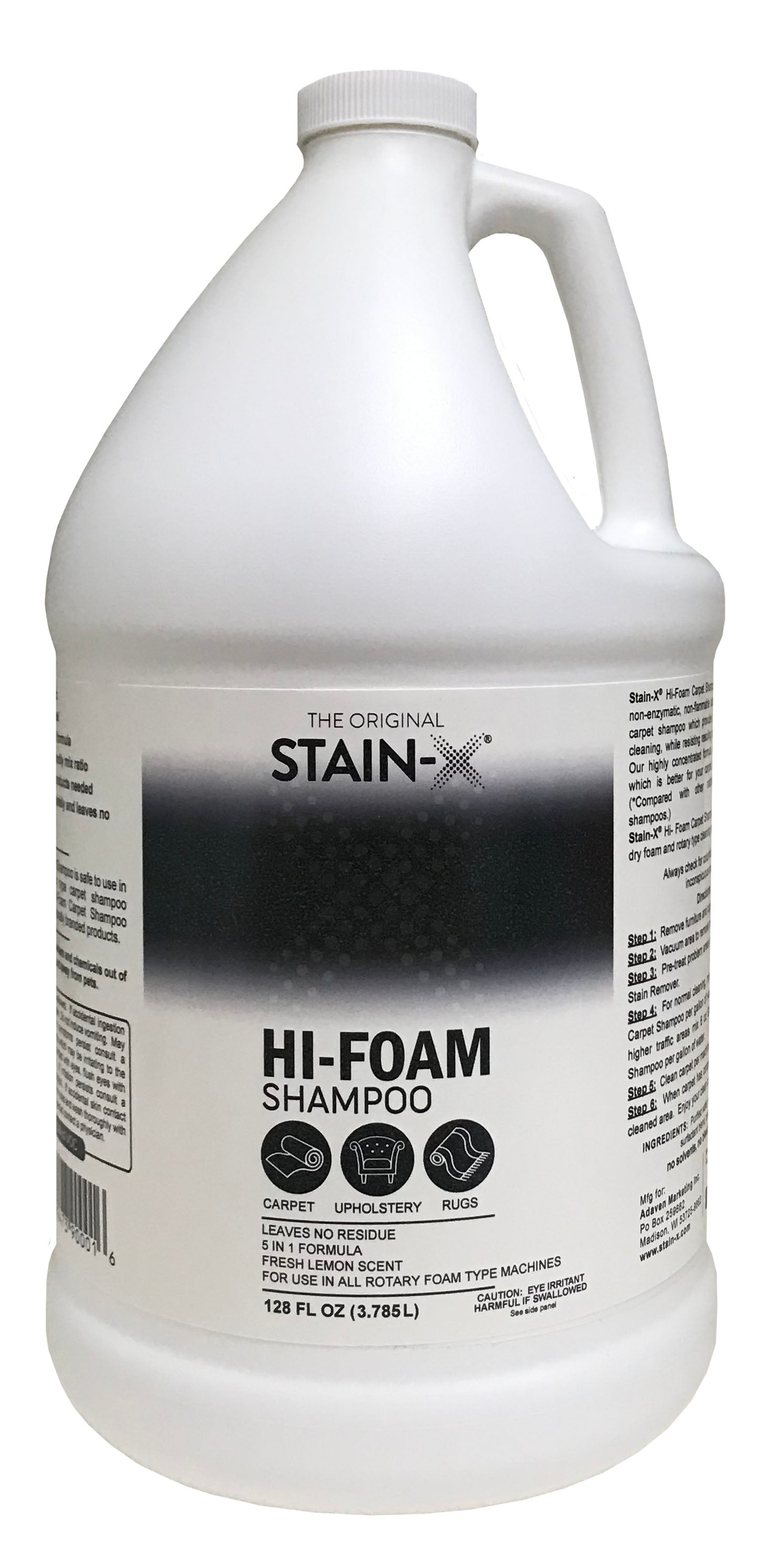 Stain-X Hi-Foam Carpet Shampoo Gallon